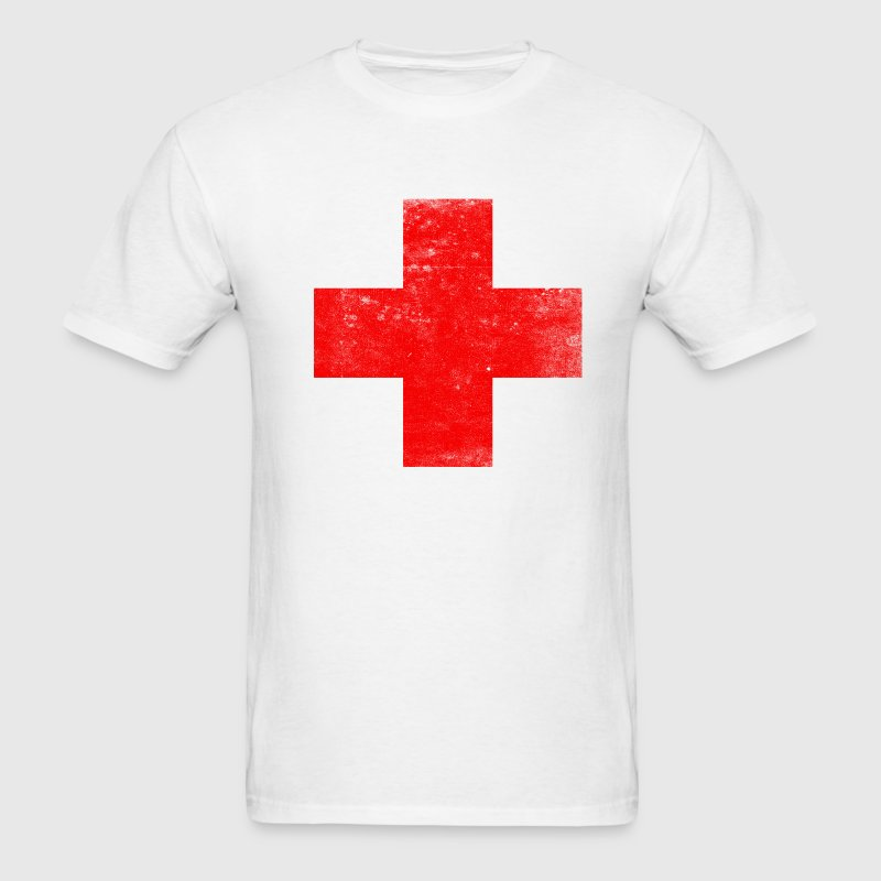 Distressed Red Cross - Men's T-Shirt