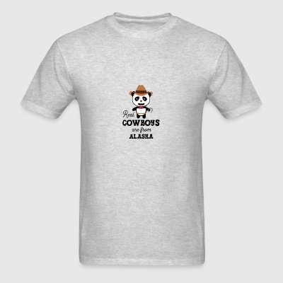 Real Cowboys are from Alaska  Gift Sportswear - Men's T-Shirt