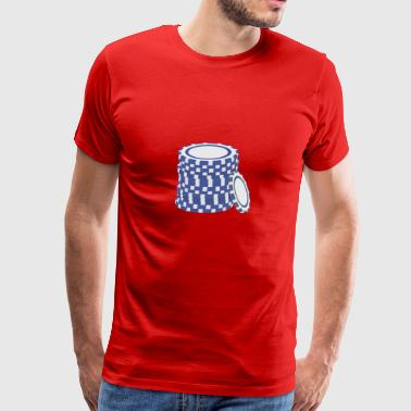 Blue poker chips Gift Sportswear - Men's Premium T-Shirt