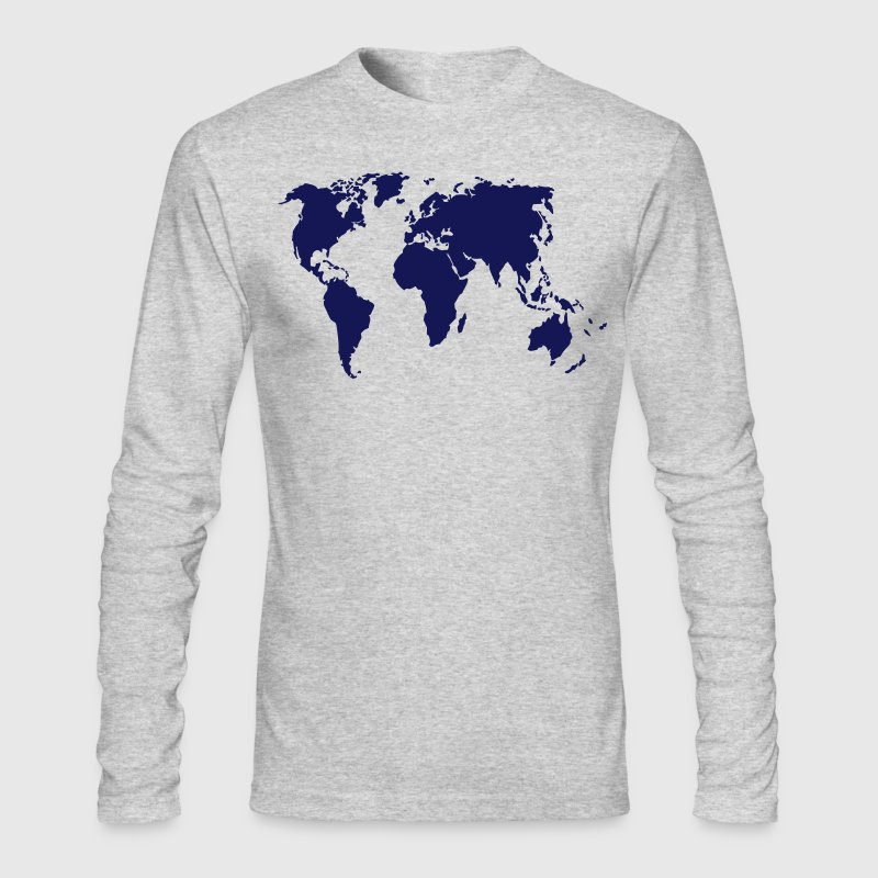 planisphere Long Sleeve Shirts - Men's Long Sleeve T-Shirt by Next Level