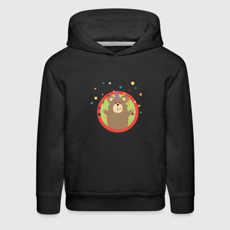 Party Bear with Spots in cirlce Gift Sweatshirts - Kids' Premium Hoodie