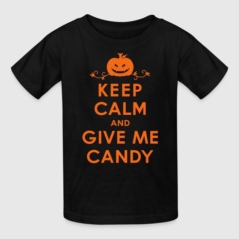 Keep Calm and Give Me Candy Halloween Kids' Shirts - Kids' T-Shirt