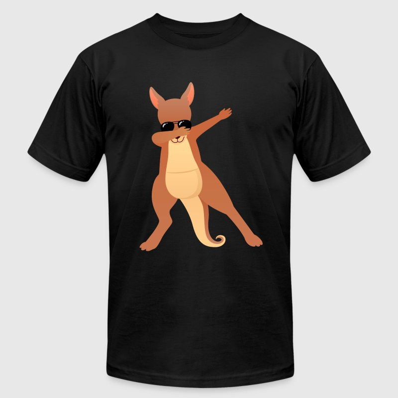 Dabbing Kangaroo With Sunglasses - Gift Design T-Shirts - Men's T-Shirt by American Apparel
