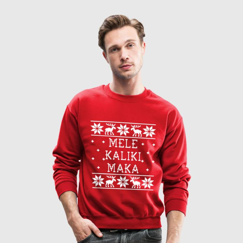 Mele Kalikimaka - Ugly Christmas Sweatshirt Long Sleeve Shirts - Crewneck Sweatshirt