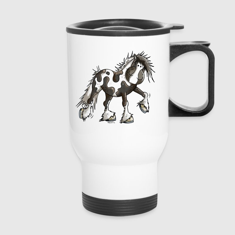 Happy Pinto Horse - Pintos - Tinker - Pony - Gift Mugs & Drinkware - Travel Mug