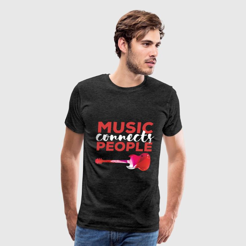 Music - Music connects people - Men's Premium T-Shirt