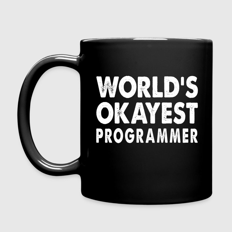 World's Okayest Programmer Mugs & Drinkware - Full Color Mug