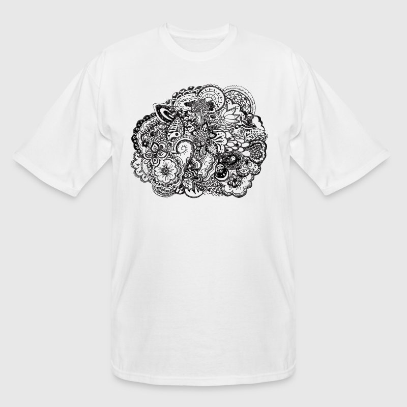 Black and white pen and ink doodle T-Shirts - Men's Tall T-Shirt