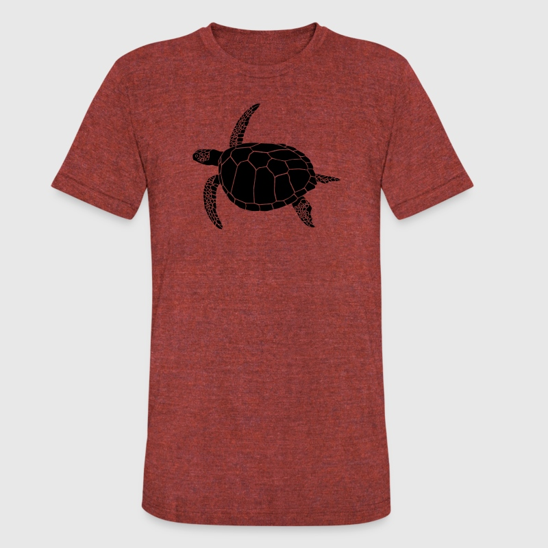 sea turtle scuba diving coral reef T-Shirts - Unisex Tri-Blend T-Shirt by American Apparel