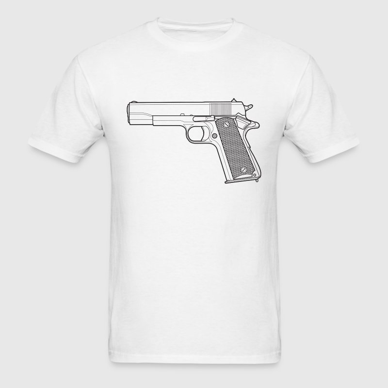 Pistol Outline T-Shirts - Men's T-Shirt