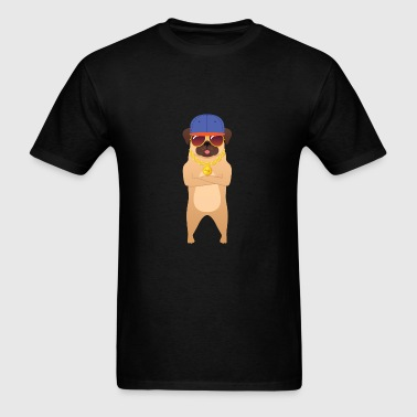 Cool Pug With Sunglasses And Cap Sportswear - Men's T-Shirt