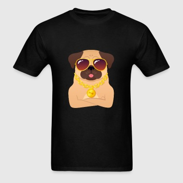 Cool Pug With Gold Chain And Sunglasses Sportswear - Men's T-Shirt