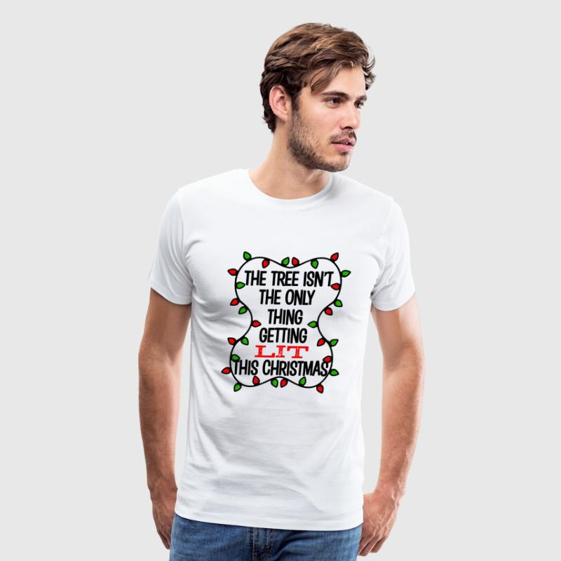 Funny Christmas Tree Lit Shirt - Men's Premium T-Shirt