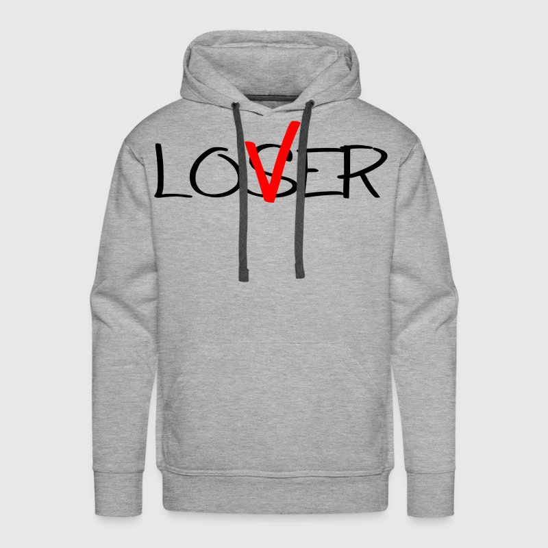 Lover NOT Loser - Men's Premium Hoodie