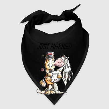 Just Married Horses - Wedding - Marriage - Gift Bags & backpacks - Bandana