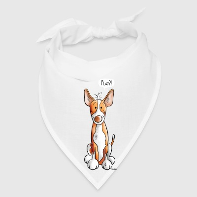 Playing Podenco Dog Cartoon - Gift - Funny Mugs & Drinkware - Bandana