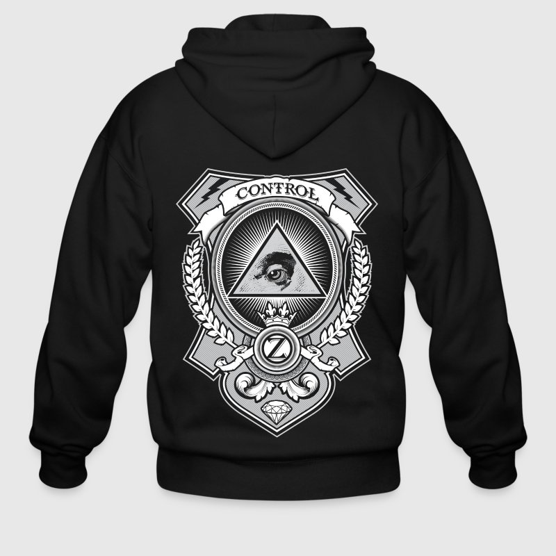 Money Shirt Design by Ctrl+Z Clothing Zip Hoodies/Jackets - Men's Zip Hoodie