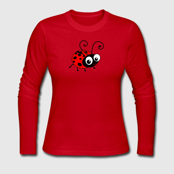 Cute Happy Ladybug Long Sleeve Shirt | Spreadshirt