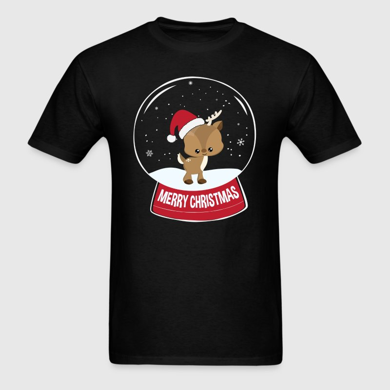 Reindeer Merry Christmas Snowball T-Shirts - Men's T-Shirt