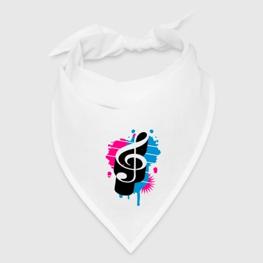 A Treble Clef as a graffiti Accessories - Bandana