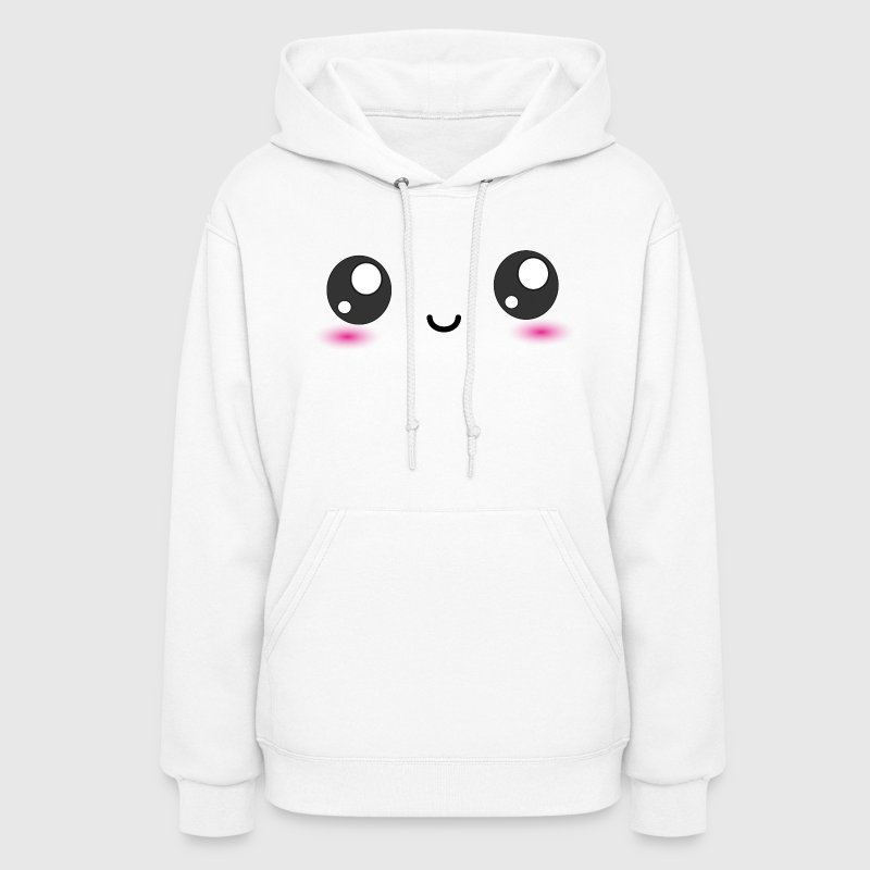 Kawaii Smiley Happy Face Hoodies - Women's Hoodie