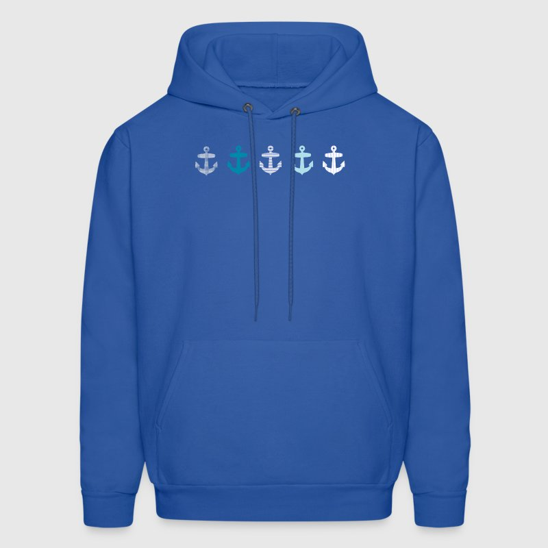 Nautical Blue Anchor Design Hoodies - Men's Hoodie