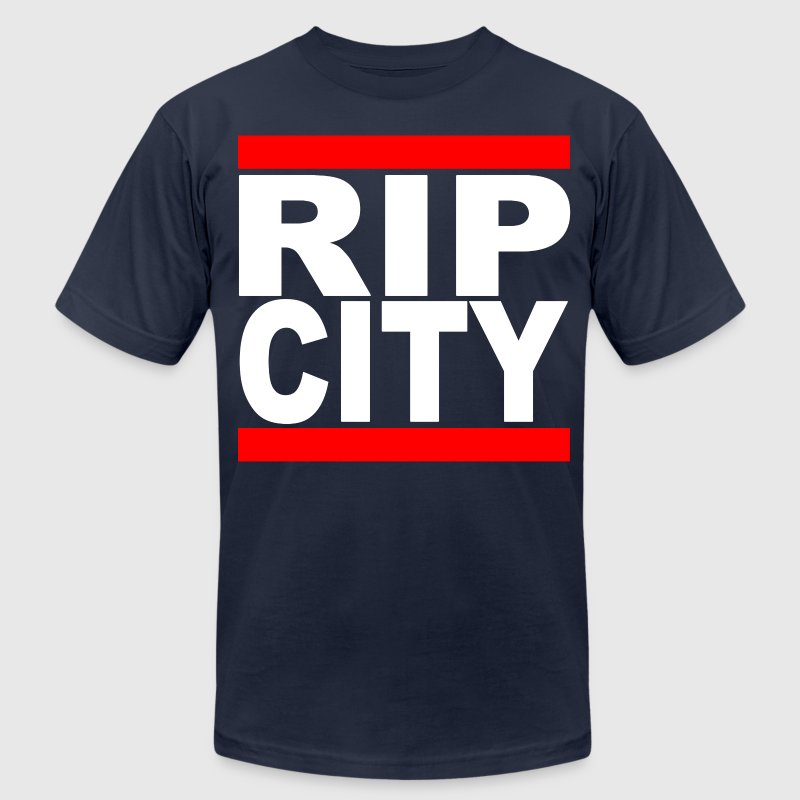 Run RipCity (White) T-Shirts - Men's T-Shirt by American Apparel