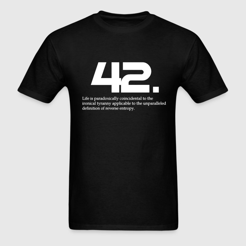 42 The hitchhiker's guide to the galaxy T-Shirts - Men's T-Shirt