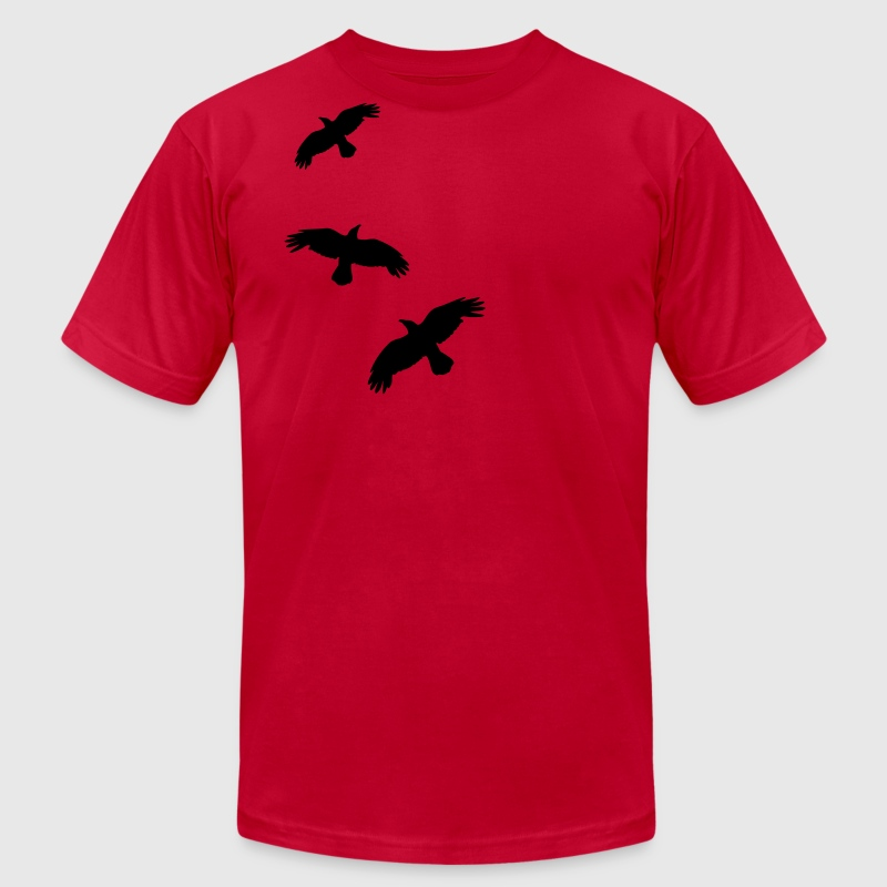 1 color - raven mystical crows flying birds T-Shirts - Men's Fine Jersey T-Shirt