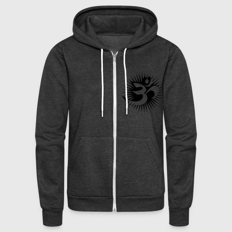 Om symbol 3D Zip Hoodies/Jackets - Unisex Fleece Zip Hoodie