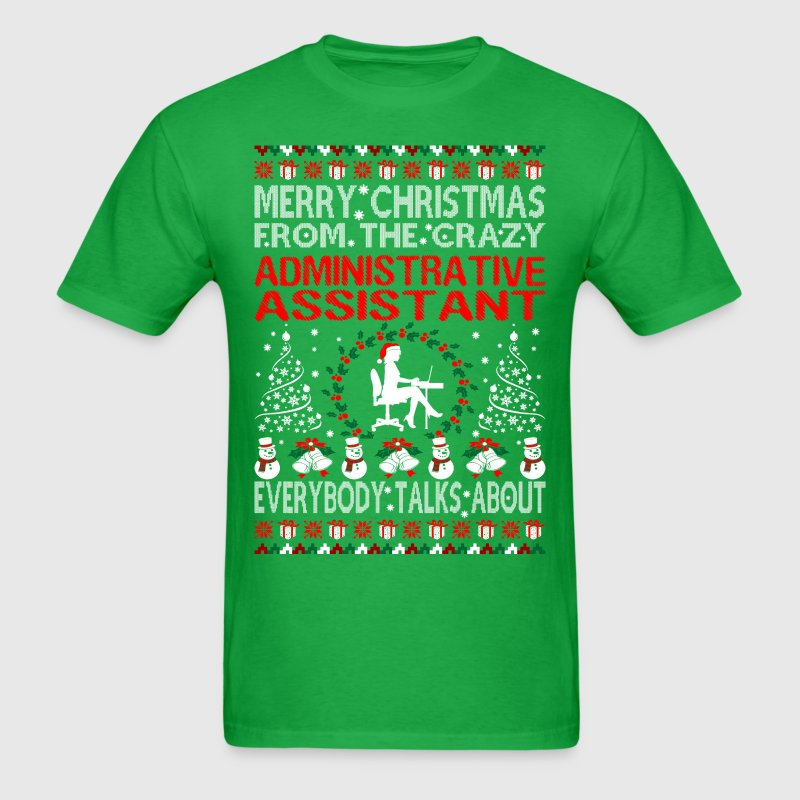 Merry Christmas From Administrative Assistant Ugly T-Shirts - Men's T-Shirt