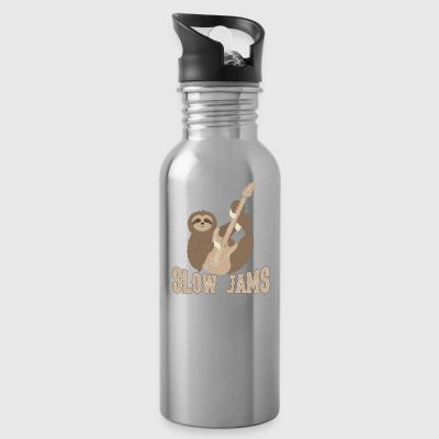 Slow Jams - fun bass guitar sloth gift Aprons - Water Bottle