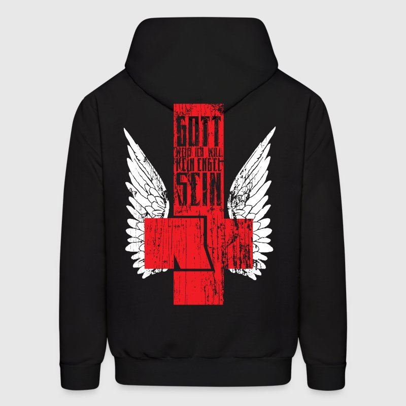 Rammstein - Engel Cross Design Hoodies - Men's Hoodie