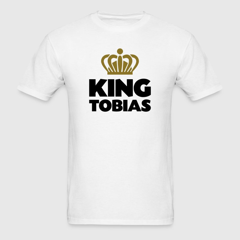King tobias name thing crown - Men's T-Shirt