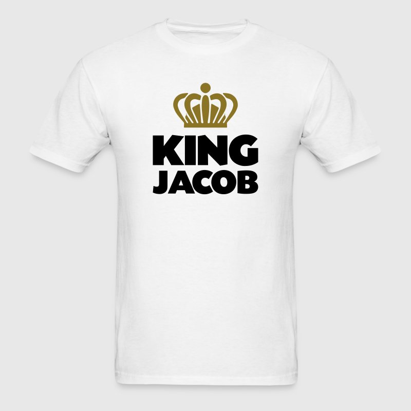 King jacob name thing crown - Men's T-Shirt