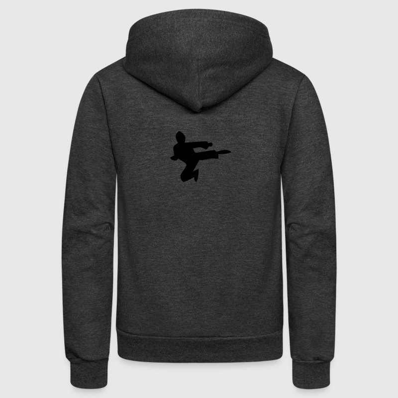 NINJA karate chop martial arts kungfu kick! male Zip Hoodies/Jackets - Unisex Fleece Zip Hoodie