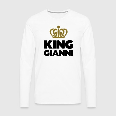 King gianni name thing crown - Men's Premium Long Sleeve T-Shirt