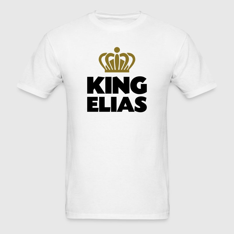 King elias name thing crown - Men's T-Shirt