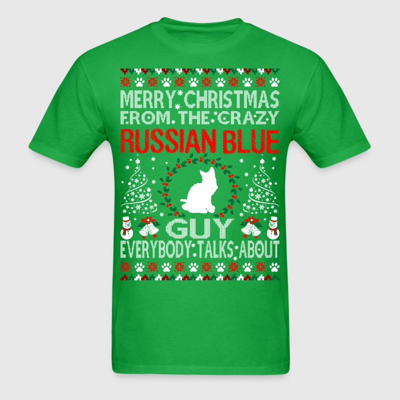 Merry christmas russian blue cat guy ugly sweater t shirt Merry christmas t shirt design