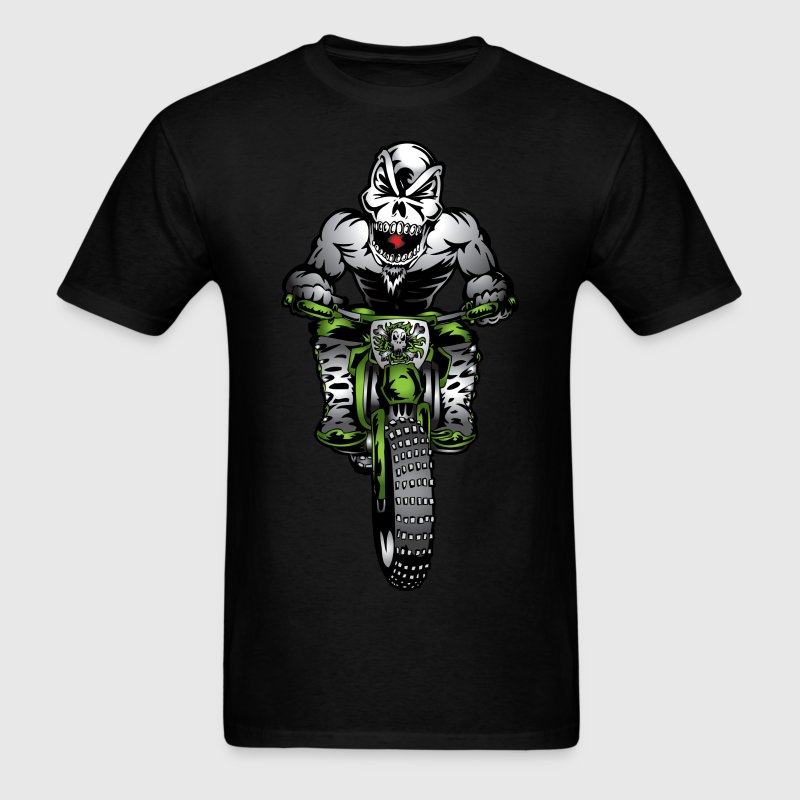 Kawasaki Motorbike Skull Monster T-Shirts - Men's T-Shirt
