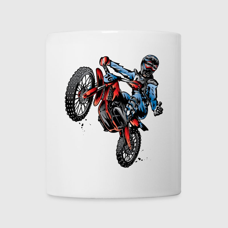 Motocross Dirt Bike Stunt Rider Bottles & Mugs - Coffee/Tea Mug