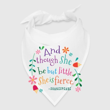 She Is Fierce Shakespeare Quote Mugs & Drinkware - Bandana