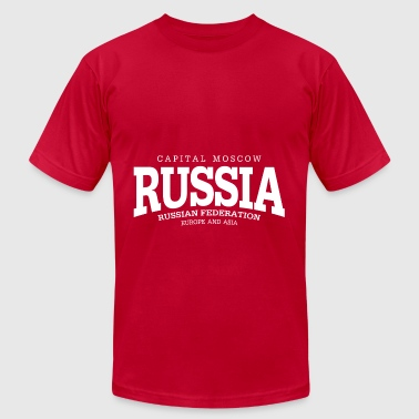 Russia (white) - Men's T-Shirt by American Apparel