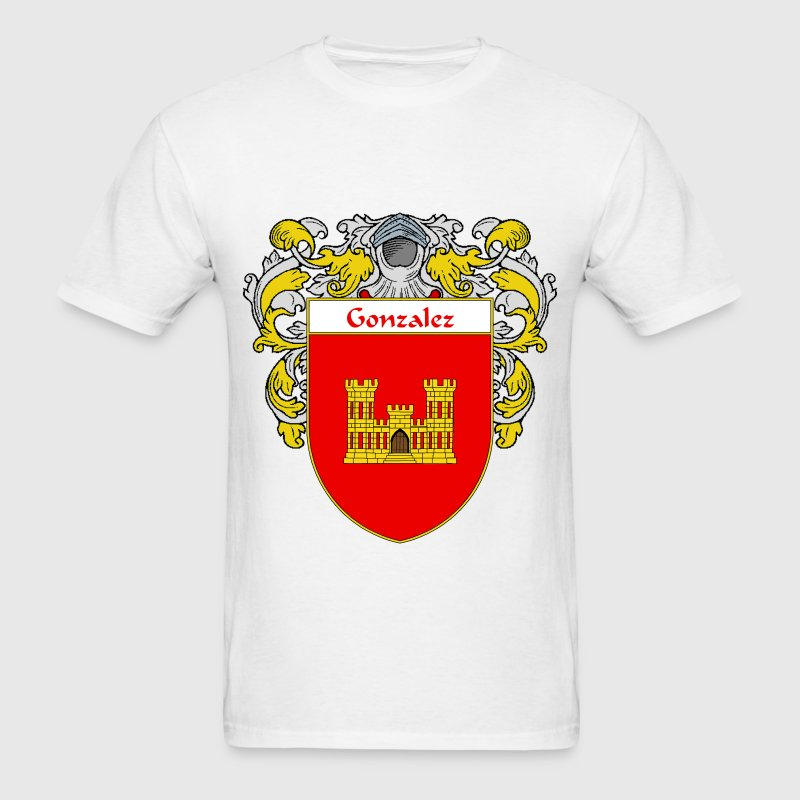 Gonzalez Coat of Arms/Family Crest - Men's T-Shirt