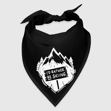 I´d rather be skiing / Ski Winter Snow Mugs & Drinkware - Bandana
