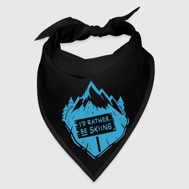 I´d rather be skiing / Winter Snowboard  Mugs & Drinkware - Bandana