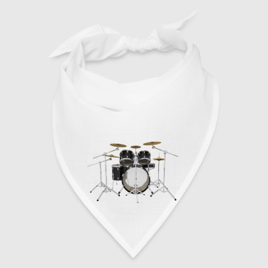 Black Drum Kit: Button - Bandana