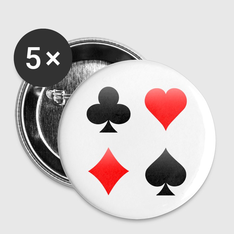 Playing Card Suits: Button - Large Buttons