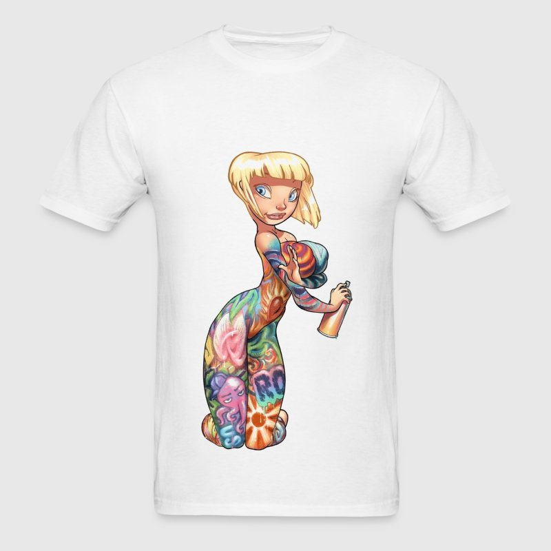 Graffiti Girl T-Shirts - Men's T-Shirt
