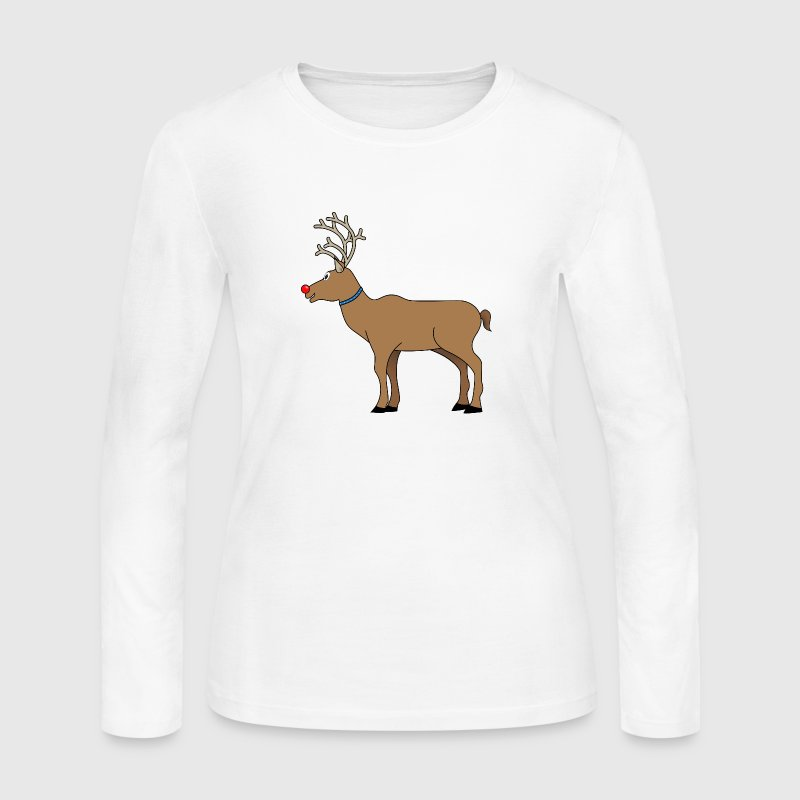 Rudolph The Red Nosed Reindeer Long Sleeve Shirts - Women's Long Sleeve Jersey T-Shirt